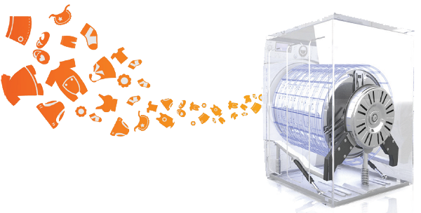 Lavadoras carga frontal superior e industriales